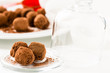 Chocolate truffles. Handmade chocolate truffle candies