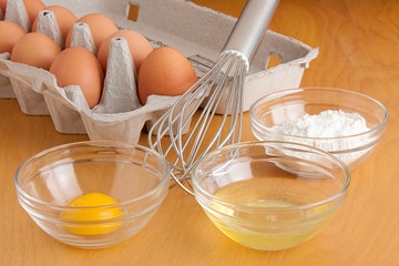 Eggs, Bowls and a Whisk