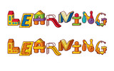 Word Learning. Letters Made Of Toys
