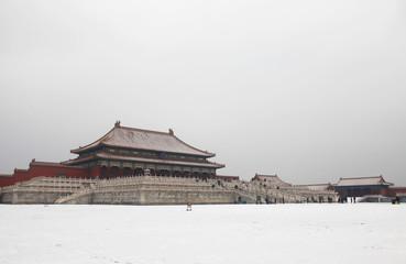 The Forbidden City in winter,Beijing