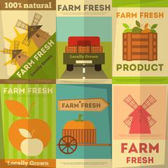 Set of Posters Farm Fresh