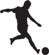 Silhouette of a man who plays football