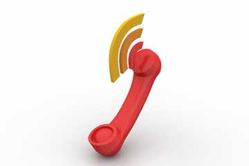 Telephone handset with sound signal