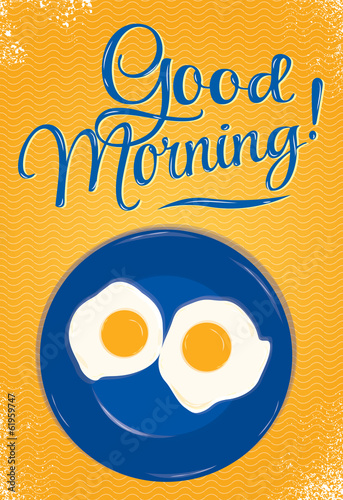 Poster lettering Good mornin orange