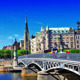 pictorial canals of Stockholm