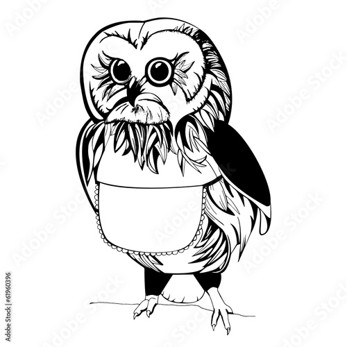 Owl illustration - 61960396