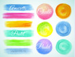Set watercolor round, smear and spot ,Vector illustration crayon