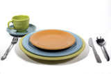 Colorful dinner place setting