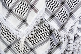 Arabic scarf, keffiyeh texture background