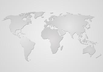 Weltkarte in grau