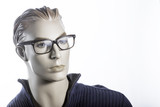 Mannequin with glasses