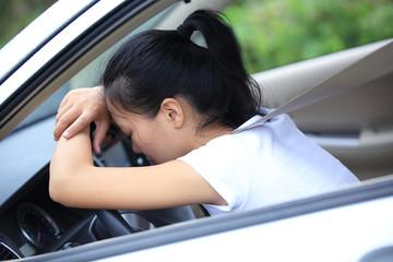 sadness woman driver