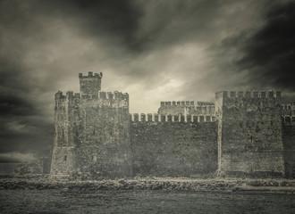 Archaic Foggy Castle