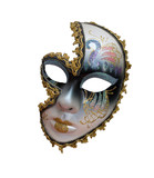 Women's carnival mask isolated on white background