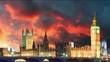 Houses of parliament - Big ben, London, UK, time lapse