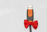 Usb plug with ribbon