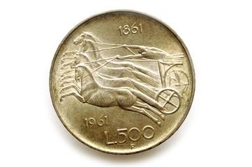 500 Lire Argento Unita' D'Italia 1961