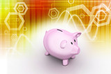 pink piggy bank, investment concept