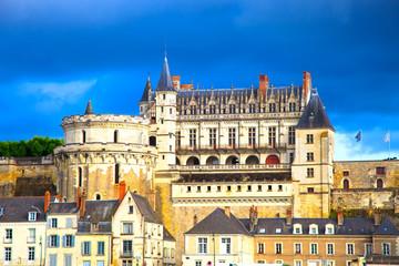 Chateau de Amboise medieval castle, Leonardo Da Vinci tomb. Loir
