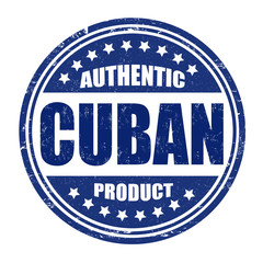 Authentic cuban product stamp