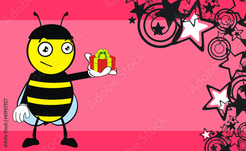 bee cartoon wallaper vector