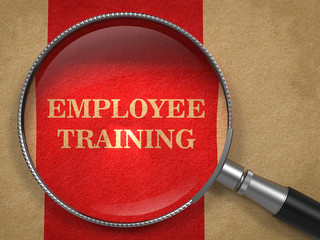 Employee Training - Magnifying Glass Concept.