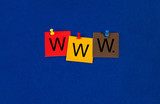 WWW, sign series for world wide web and internet.