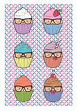 Cupcake, kawaii geek set