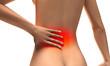Donna con dolore alla schiena