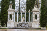 Apollo. Ornamental fountains of the Palace of Aranjuez, Madrid,