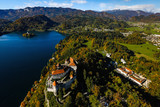 Castle on lake Bled in Triglav national park