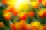 Abstract geometric background yellow, red, green.
