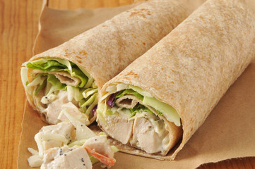 Organic Chicken Wrap Sandwiches