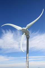 wind power with sky in background