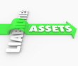 Assets Arrow Over Liabilities Increasing Wealth Accounting Value