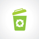 Icon of recycle Bin. garbage can. Eps 10