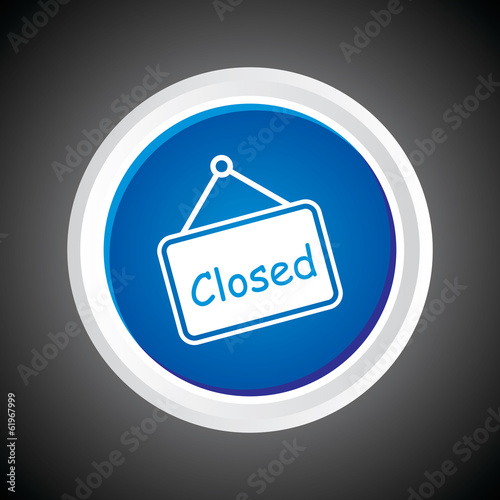 Icon of Closed On Button. Eps-10.