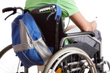 Handicapped schoolboy