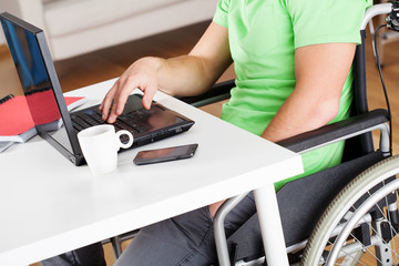 Office work on wheelchair
