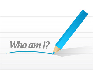 who am I message illustration design