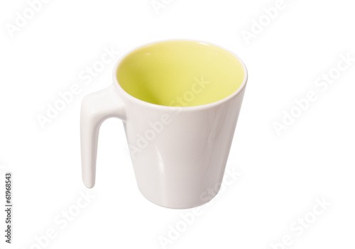 white ceramic mug isolated on white