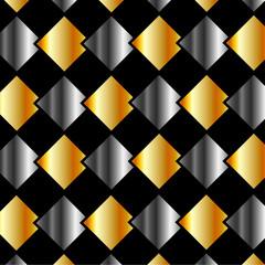 Metallic tiles background