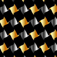 Gold and silver fractal background for web
