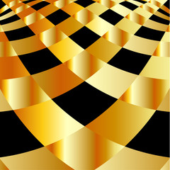 High grade gold metal wrap background
