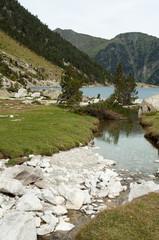 Lac de Gaube in Pont d`Espagne, Pyrenees (France)