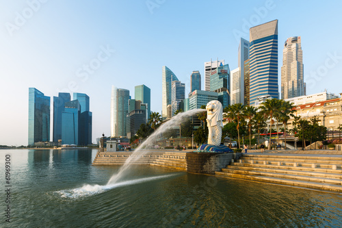 Foto op Canvas Singapore Financial district, Singapour