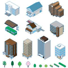 様々な建物 / 立体図