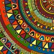 Colored tribal design