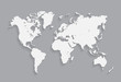 World map vector illustration. on the gray background. eps10