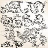 Collection of vector swirls and flourishes for design
